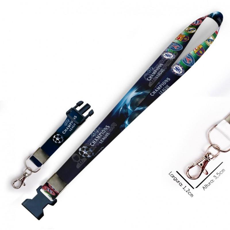 Cordão para Crachá Harry Potter Corvinal C0410P com Garra Tipo Jacaré e fecho bolsa tipo Engate rápido