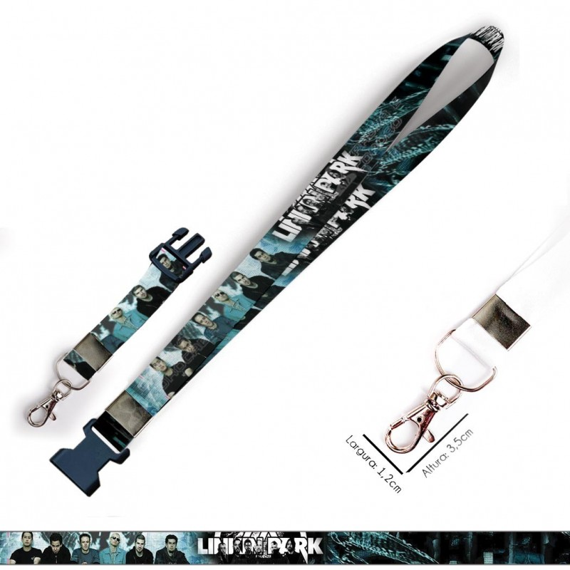 Cordão para Crachá Insignias Naruto C0470P com Garra Tipo Jacaré e fecho bolsa tipo Engate rápido