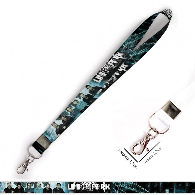 Cordão Linkin Park C0273P com Mosquete