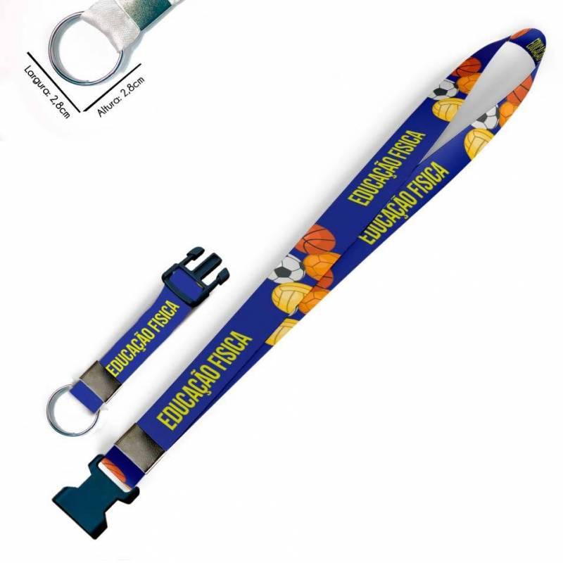 Cordão para Crachá ou Chaveiro Itachi Uchiha Naruto C0113P com Argola Italiana Prata