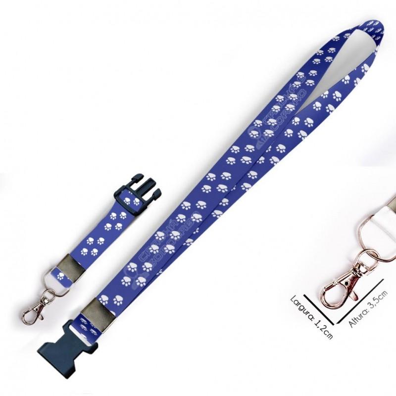Chaveiro Patinhas Azul C0398P com Mosquete e Engate Rápido