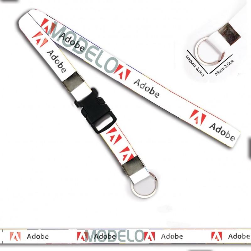 Chaveiro para Moto Adobe C0406P com Argola Italiana e Engate
