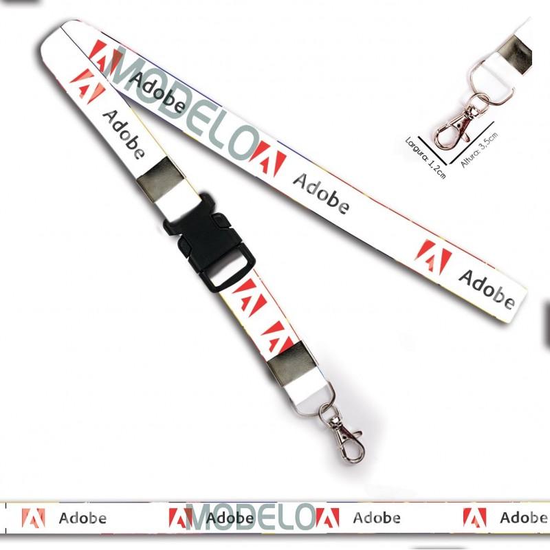 Cordão para Crachá ou Chaveiro Oakley C0500P com Mosquetão