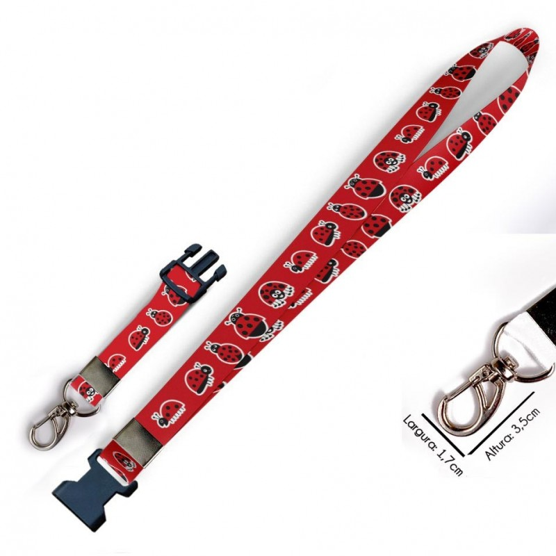 Cordão para Crachá ou Chaveiro Princesa também usam Capacete C0566P com Mosquetão