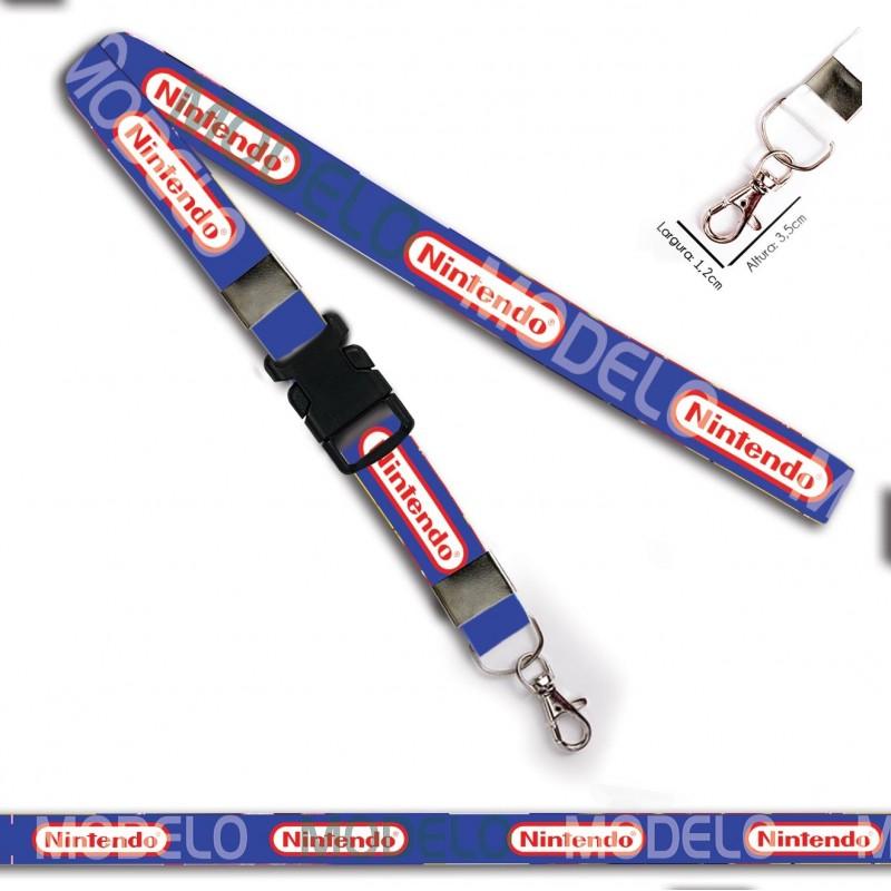 Chaveiro Nintendo C0434P com Mosquete e Engate Rápido
