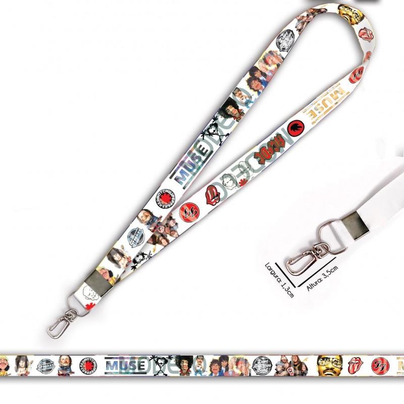 Cordão para Crachá ou Chaveiro Hello Kitty C0054P com Mosquetão e Fecho Bolsa (Engate Rápido)