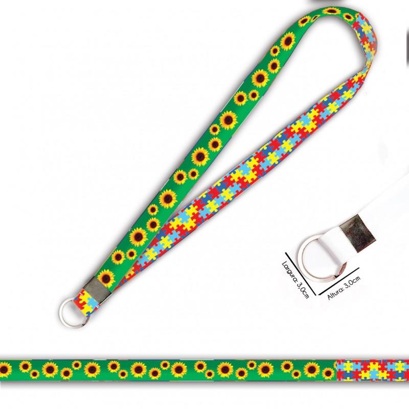 Cordão Girassol e Quebra Cabeças C0469P com Argola Italiana