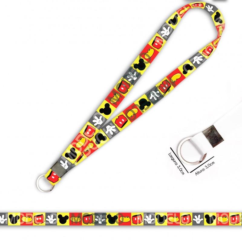 Cordão para Crachá ou Chaveiro Dragon Ball Brolly C0195P com Mosquetão e Fecho Bolsa (Engate Rápido)