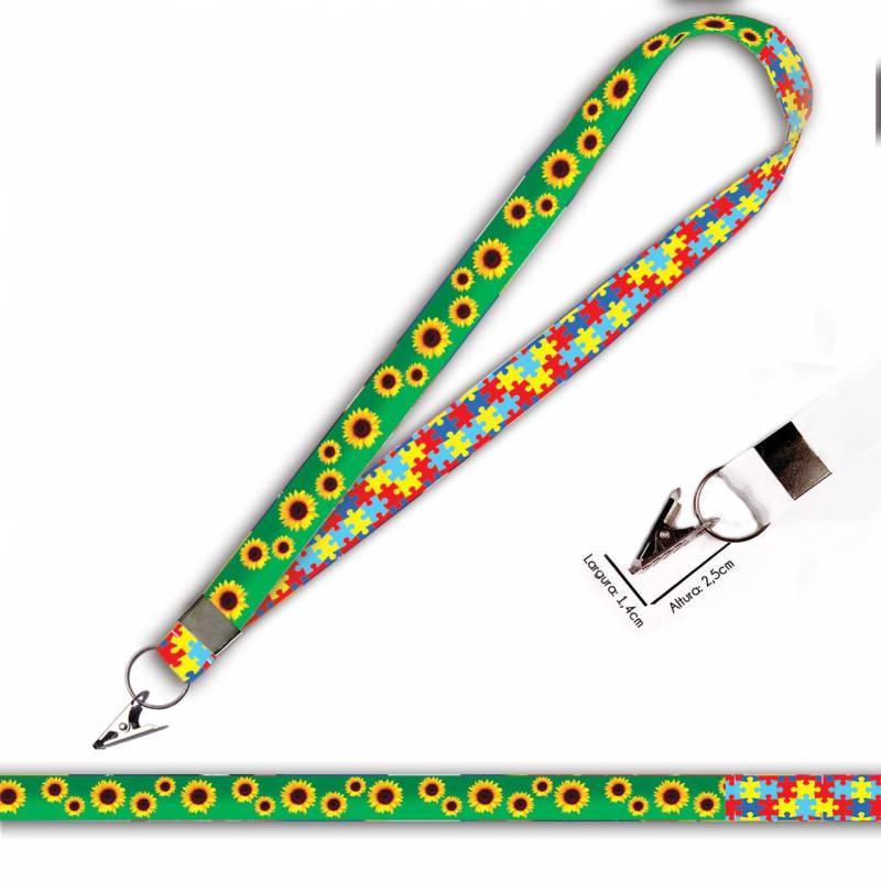 Girassol e Quebra Cabeças C0469P Cordão com Jacaré