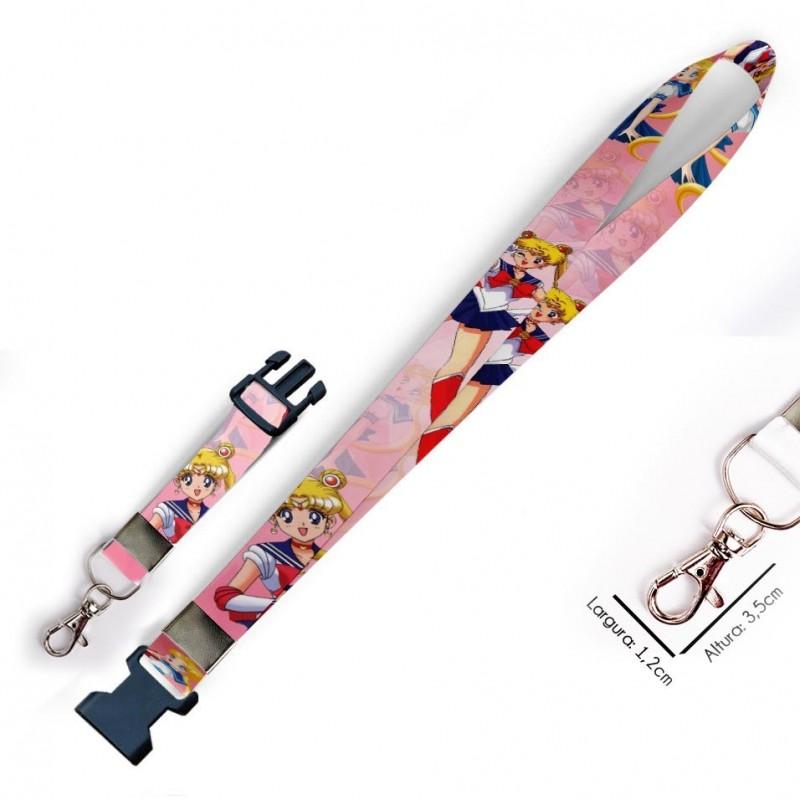 Chaveiro Sailor Moon C0506P com Mosquete e Engate Rápido